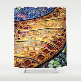 Venice Tiles Shower Curtain