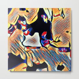 Hot Lava ~ Spill Metal Print
