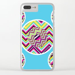 Hipster Chevron Clear iPhone Case