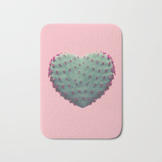 Heart of Cactus Bath Mat