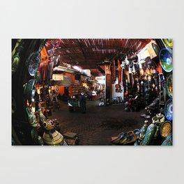 Marrakech Souks, Morocco, Africa Canvas Print