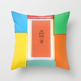 The Betty Book Throw Pillow