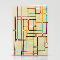 mondrian Stationery Cards featuring The map (after Mondrian) by Picomodi