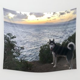 Wolfie the Siberian Husky No.2 Wall Tapestry