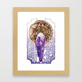 Dark Crystal Art Nouveau Framed Art Print