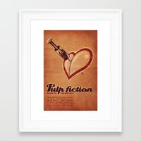 pulp fiction Framed Art Prints featuring Pulp Fiction by nagyaro