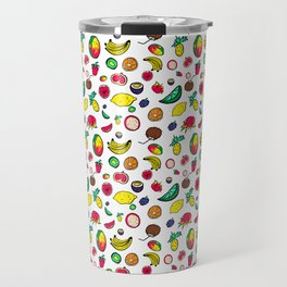 Tuti Fruti Quirky Tropical Fruit Pattern Travel Mug