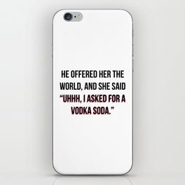 Vodka Soda iPhone Skin