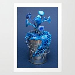 I Can : Anxiety (Blue) | Surrealistic Mushroom Art | Sculpture by Stephanie Kilgast Art Print