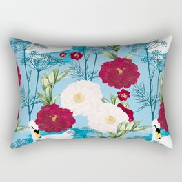 Swan Pond #illustration #pattern Rectangular Pillow