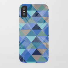 Triangles Blues Slim Case iPhone X