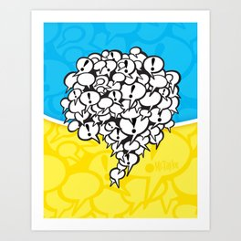 Mr.Taylor Talk Bubbles Art Print