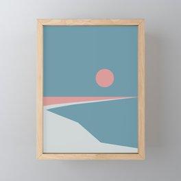 Sunset at Newton Framed Mini Art Print