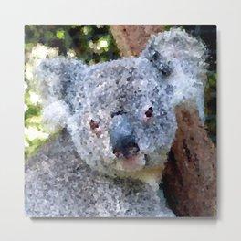 Poly Animals- Koala Metal Print