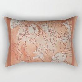 Ajanta Cave Painting Rectangular Pillow