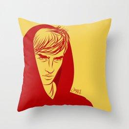 Red cap Throw Pillow