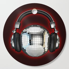 Headphone disco ball Cutting Board
