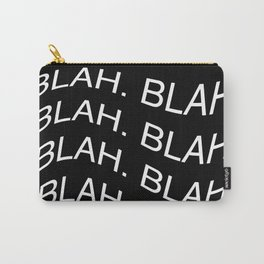 "Monochrome ""Blah"" Print Carry-All Pouch"