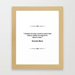 Groucho Marx Quote Framed Art Print
