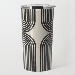 Mid Century Art - Arch shape Travel Mug