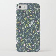 Floral blue pattern. Watercolor Slim Case iPhone 7