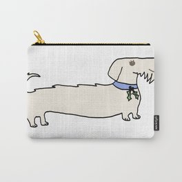 Dacshund with Holly Carry-All Pouch
