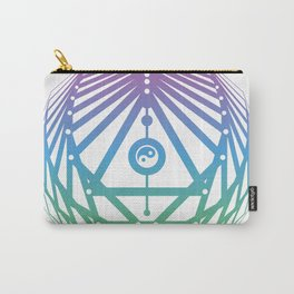 Radiant Abundance (white-cool gradient) Carry-All Pouch