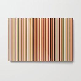 Old Skool Stripes - Morning - Extra Wide Metal Print