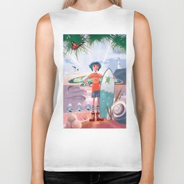 The Adventures of Lola and the Ocean Monster Biker Tank