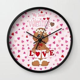 My Sweet Valentine Boy Wall Clock