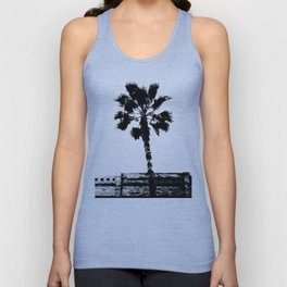 Black & White Palm Unisex Tank Top