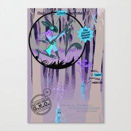 La Chasse Aux Carottes Canvas Print