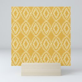 Diamond Dots in Yellow Mini Art Print