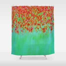 ABSTRACT POPPY  FEILD Shower Curtain