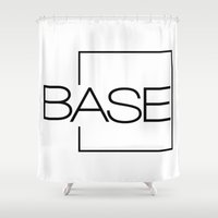 shinee Shower Curtains featuring BASE by Noctambulous Designs