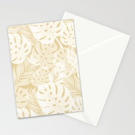 Tropical Shadows - Beige White Stationery Cards