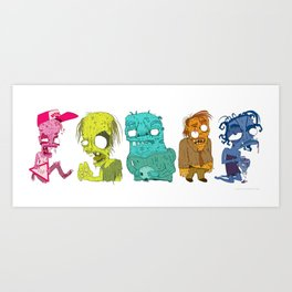 Attack Of The Crawlers Art Print