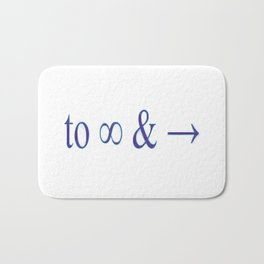 To infinity and beyond Bath Mat