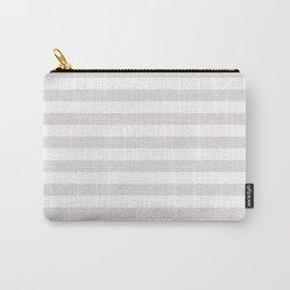 Horizontal Stripes (Platinum/White) Carry-All Pouch