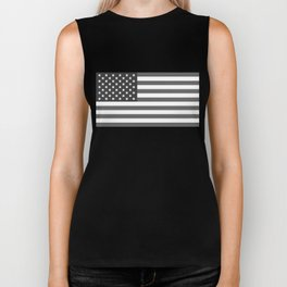National flag of the USA, B&W version Biker Tank