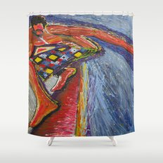 The Tom Sellecka Shower Curtain