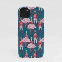 Nutcracker Ballet - Teal Blue iPhone Case