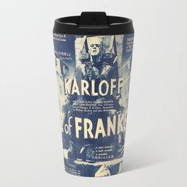 Bride of Frankenstein, vintage horror movie poster Travel Mug