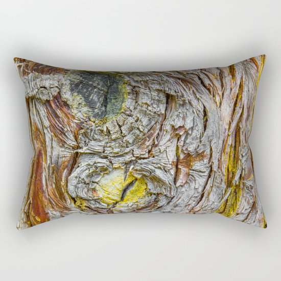 Face of Tree2 Rectangular Pillow
