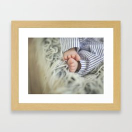 Tiny Toes Framed Art Print