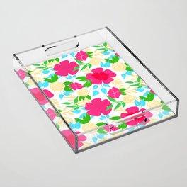 03 Pattern of Flowers Acrylic Tray