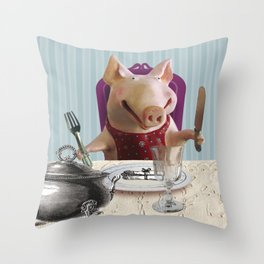 PIG Throw Pillow