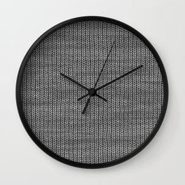 Antiallergenic Hand Knitted Grey Wool Pattern - Mix & Match with Simplicty of life Wall Clock