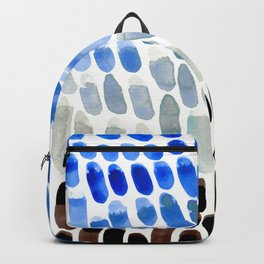 Cool Blue Frosted Winter Palette colorful watercolor Nature Pattern Backpack