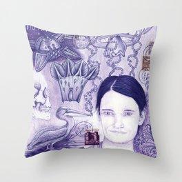 Purple Dream Scape Throw Pillow